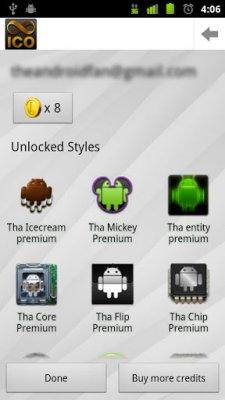 Набор иконок для Android