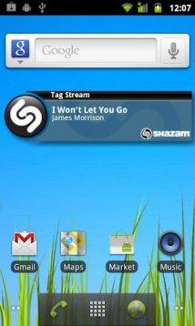 Определитель музыки Shazam