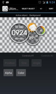 Сделать виджет с помощью Ultimate custom widget